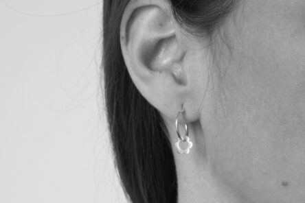 Earrings Flower Hoops