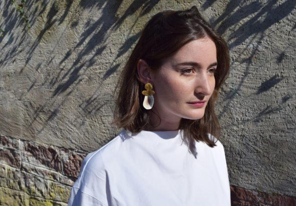 Earrings Botswana Agate