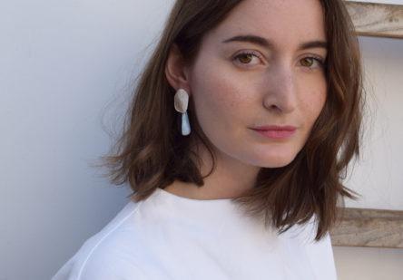 Earrings Natural Blue Opal