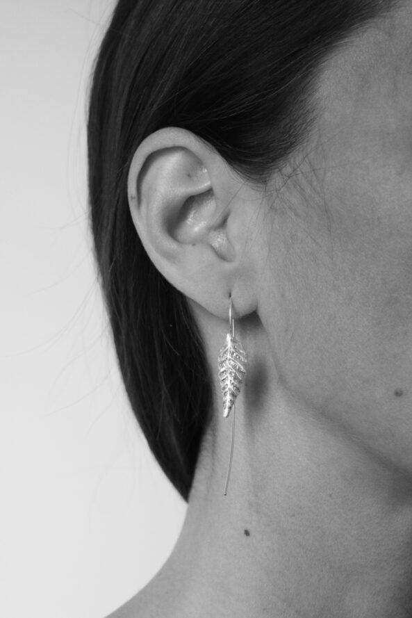 Earrings Rolled Leaf