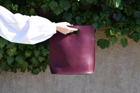 Leatherbag Open Bordeaux